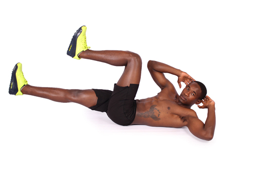 Bicycle Ab Crunches Exercise