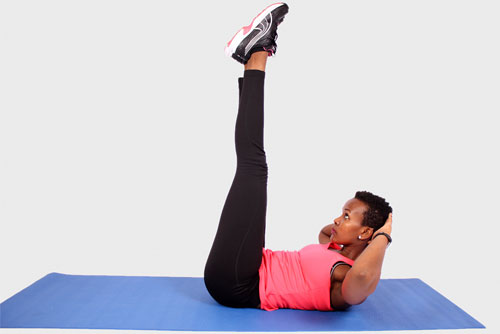 Vertical Leg Crunches Exercise
