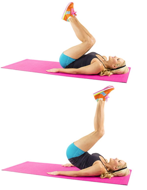 Reverse Crunches Exercise for Lower Abs